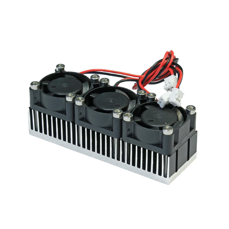 радиатор 25x75 с тремя вентиляторами
