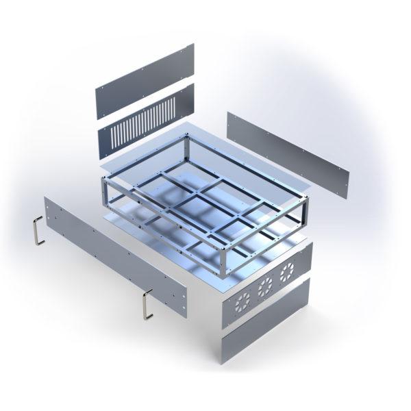 Комплектации алюминиевого корпуса